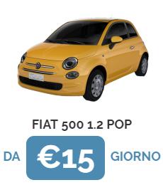 Noleggia Fiat 500 Yellow